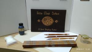 Arabic Calligraphy Set1 (Qalam,Ink,Lika,Inkwell,Papers,Practice book) - EGYPT